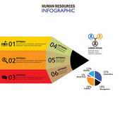human resources concept infographic vector icon
