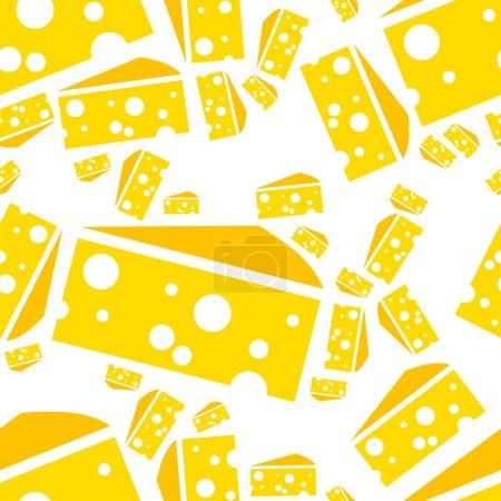 Illustration pour Fromage patron sans couture - image libre de droit