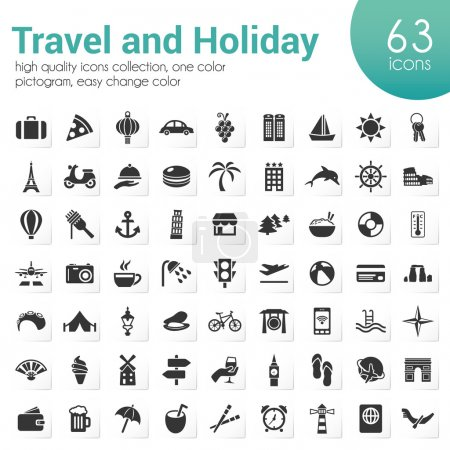 Illustration for Travel and holiday icons - Royalty Free Image