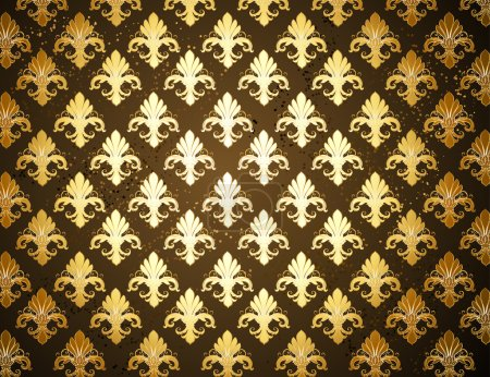 Background with gold Fleur de Lis