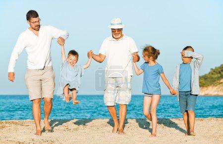 grandfather beach family