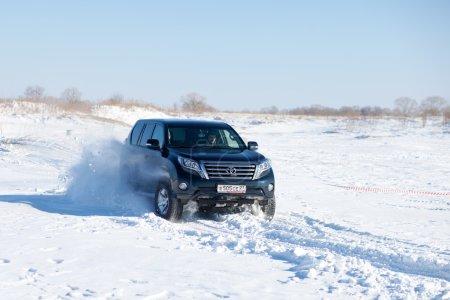 KHABAROVSK, RUSSIA - JANUARY 31, 2015: Toyota Land Cruiser Prado