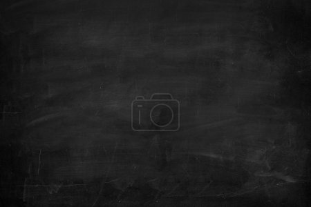 Blackboard  Chalkboard Texture. Empty Blank Black Chalkboard With Chalk Trac