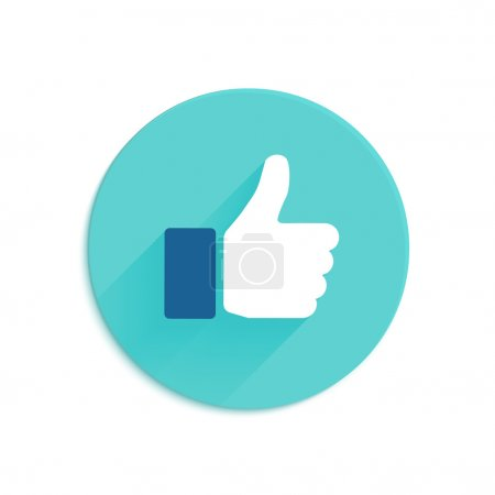 Thumbs up icon flat style