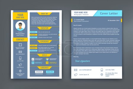 Resume and Cover Letter or CV Template