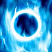 Ring of Fire. Vektorové pozadí Ohnivý kruh