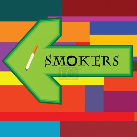 Banner for smokers