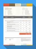 Vector Customizable Invoice Form Template Design Vector Illustration