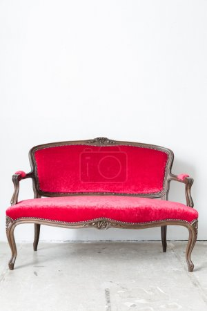 Photo for Red sofa Contemporary style in vintage room - Royalty Free Image