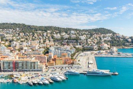 Nice view with mediterranean sea beach