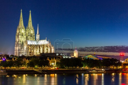 Cologne Cathedral with River Rhine