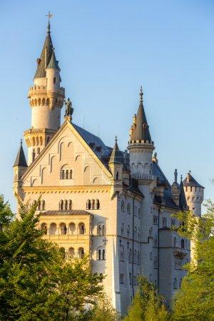 Neuschwanstein castle at Fussen Bavaria