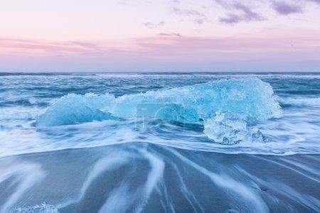 Iceberg beach in Iceland