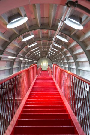 Red stairway sucessful concept