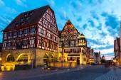 Rothenburg ob der Tauber in Germany at dusk