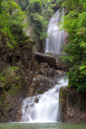 Tropical Waterfall in Phlio National Park