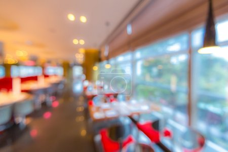 Cafe restaurant blur background