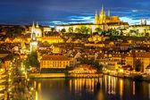 Prague city at dusk