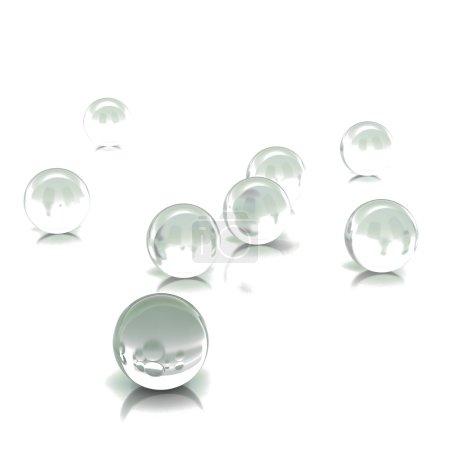3d rendering abstract spheres