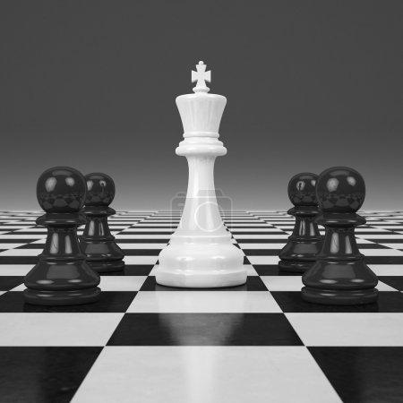 3d rendering Last chessman