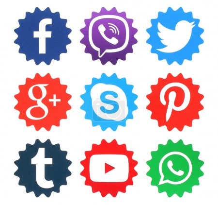 Collection of popular social media