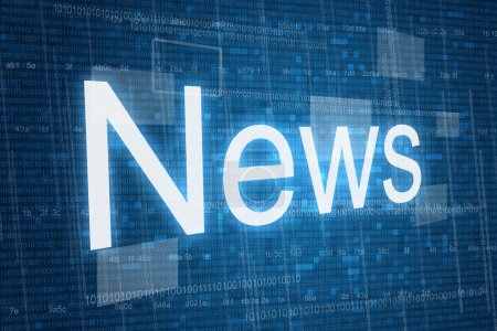 News word on digital background