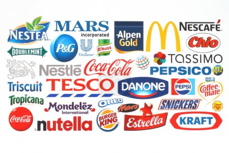 Collection of popular food logos