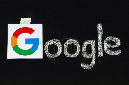 New Google logotype on blackboard