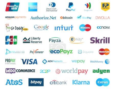 Коллекция популярных платежных систем