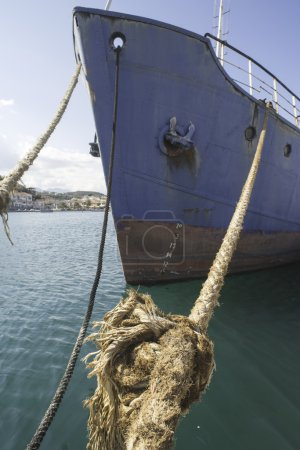 Loosened boat ropes