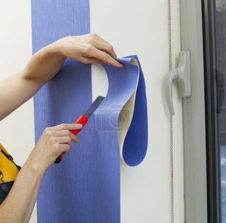 Woman doing repairs