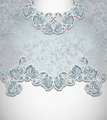 Template vintage background silver blue