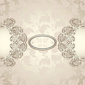 Vintage background with seamless pattern in pearly beige