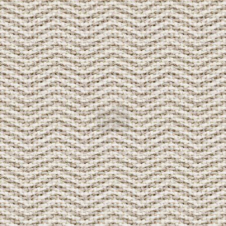 Photo for Natural burlap texture digital paper with chevron - tileable, seamless pattern - Royalty Free Image