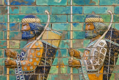Two soldiers with bows and