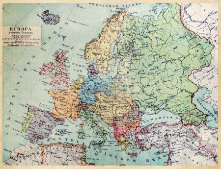 historische Landkarte des alten Europas. 1900 Jahre.
