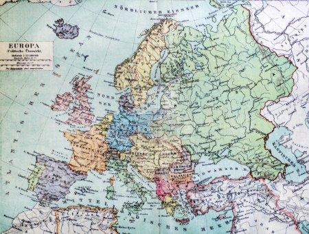 Carte historique de la vieille Europe. 1900 ans .