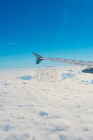 Wing of an airplane, view from window.