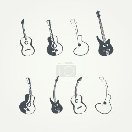 guitar logo template