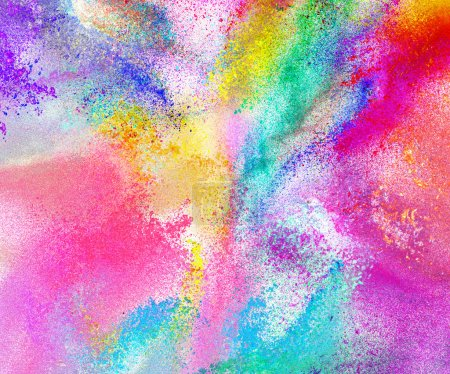 Abstract colored powder background