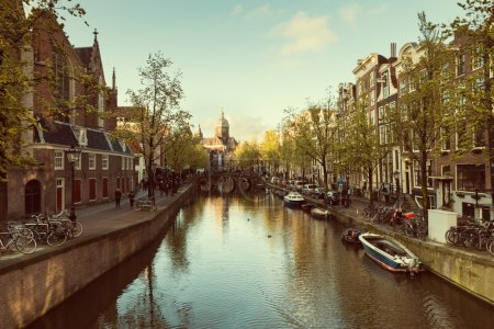 Downtown of Amsterdam, Netherlands