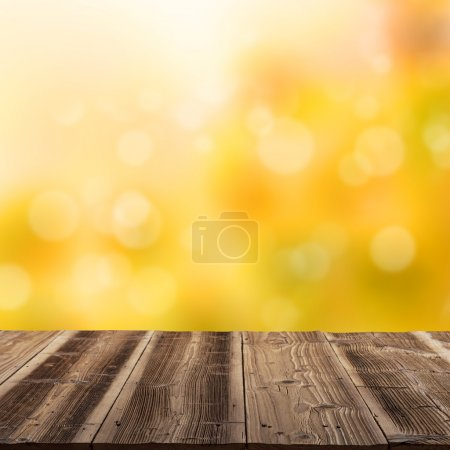 autumn blank wooden poster