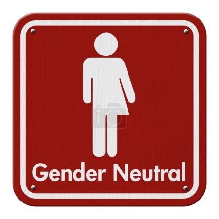 Photo pour Signe Transgenre, Rouge et Blanc Signe avec un symbole transgenre avec texte Genre Neutre - image libre de droit