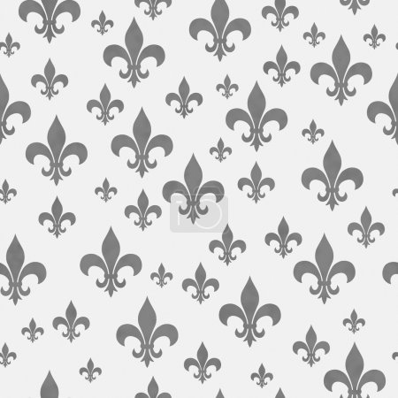 Gray Fleur-de-lis Pattern Repeat Background