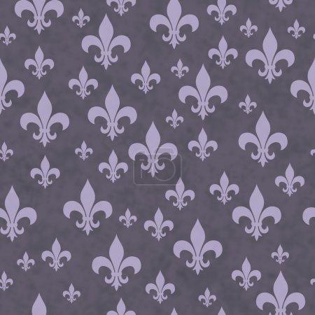 Purple Fleur-de-lis Pattern Repeat Background