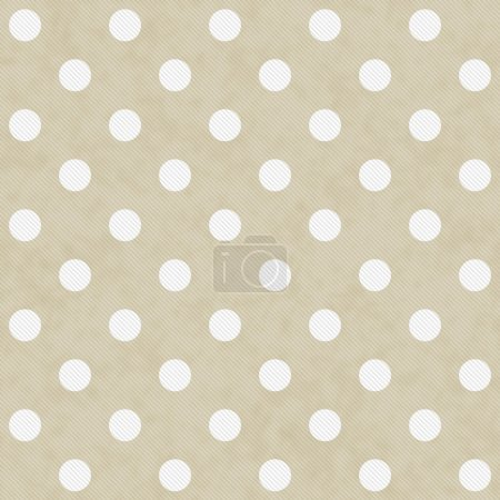 Photo pour Beige and White Large Polka Dots Pattern Repeat Background that is seamless and repeats - image libre de droit