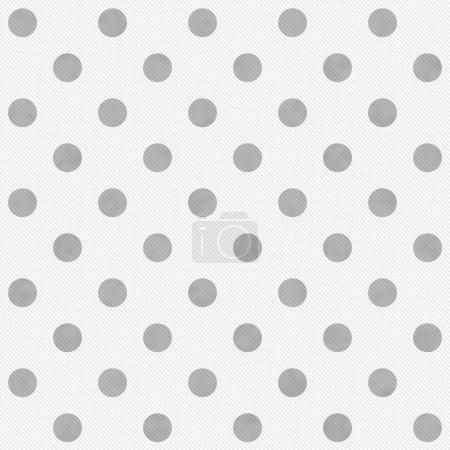 Photo pour Gris et blanc à gros pois de fond répétée qui est transparente et se répète - image libre de droit