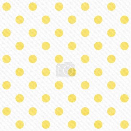Photo pour Jaune et blanc grande Polka Dots répéter de fond qui est transparente et se répète - image libre de droit