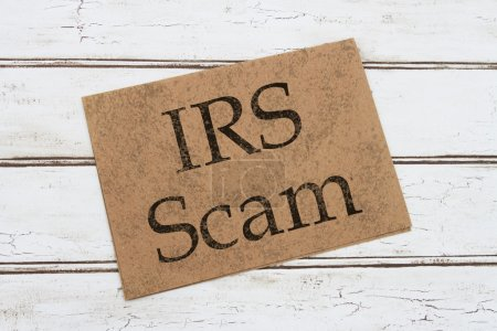 IRS Scam Warning Card