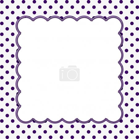 Purple and White Polka Dot Frame Background
